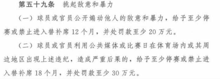 中国足协公布纪律准则:利用媒体挑起敌意暴力将禁赛18个月-建业V